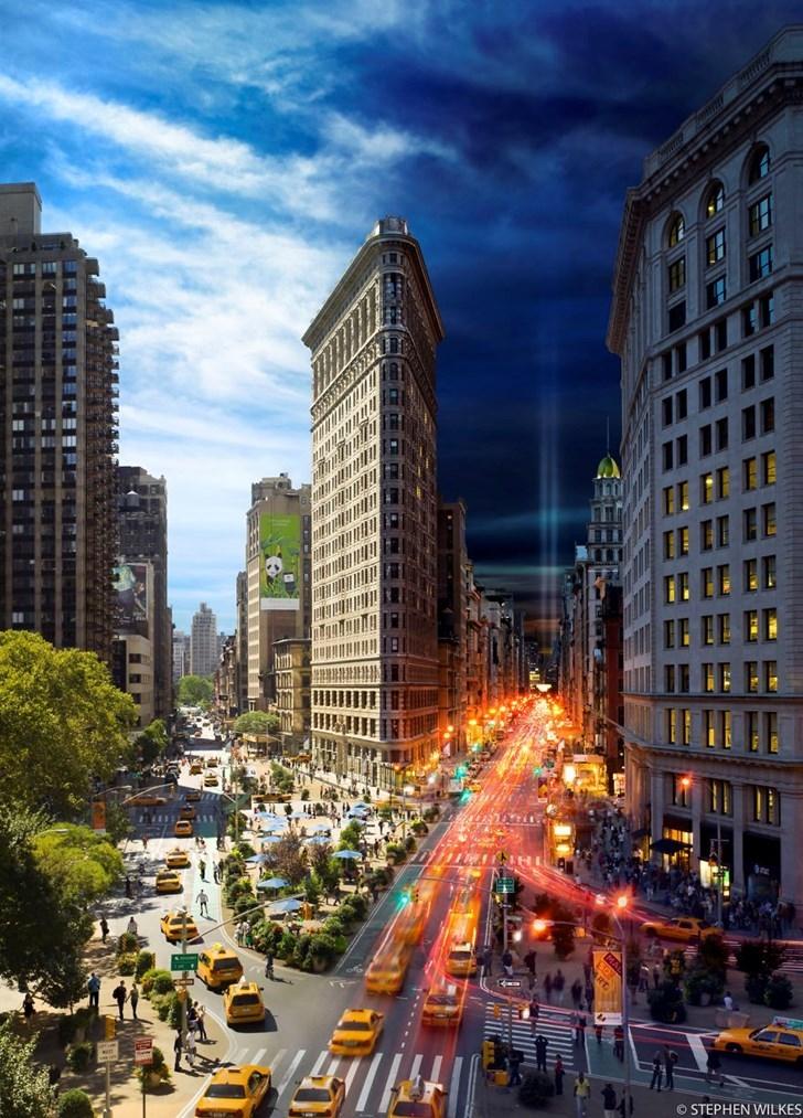 Quá đỗi ấn tượng khi khung cảnh ngày và đêm được kết hợp trong cùng một bức ảnh