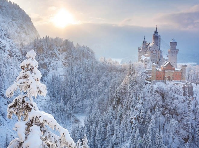 Lâu đài Neuschwanstein, Bavaria, Đức<br />