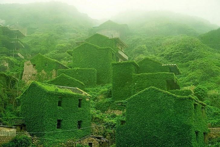 Ngôi làng bỏ hoang tại Shengsi, Trung Quốc