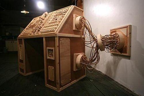 Siêu hài hước những đồ vật tinh xảo làm từ gỗ - Hình 14