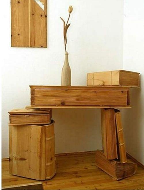 Siêu hài hước những đồ vật tinh xảo làm từ gỗ - Hình 17