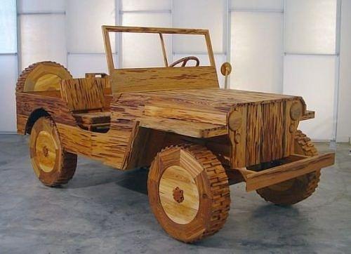 Siêu hài hước những đồ vật tinh xảo làm từ gỗ - Hình 11