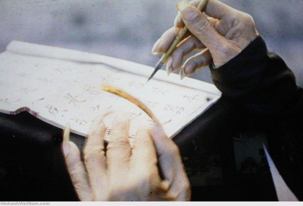 Móng tay để dài của một nhà nho - Photo by Léon Busy