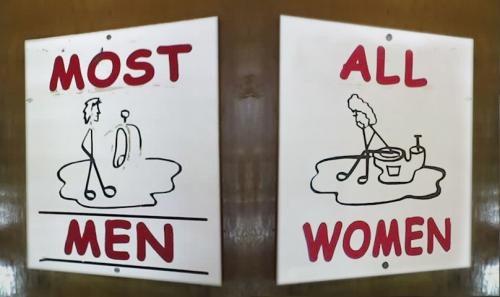 Những biển báo nhà vệ sinh hài hước - Hình 8
