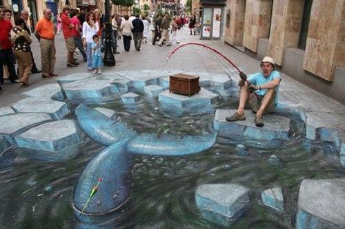 Tranh 3D đường phố vui nhộn - Hình 4
