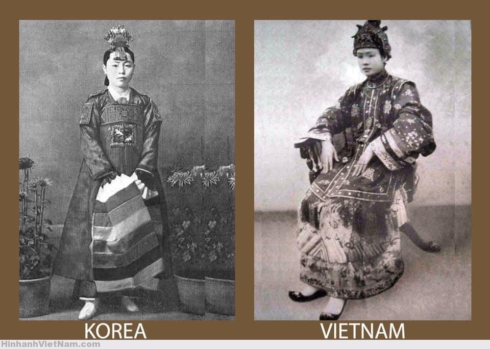 Áo cưới cung đình của nữ quý tộc Triều Tiên và Việt Nam