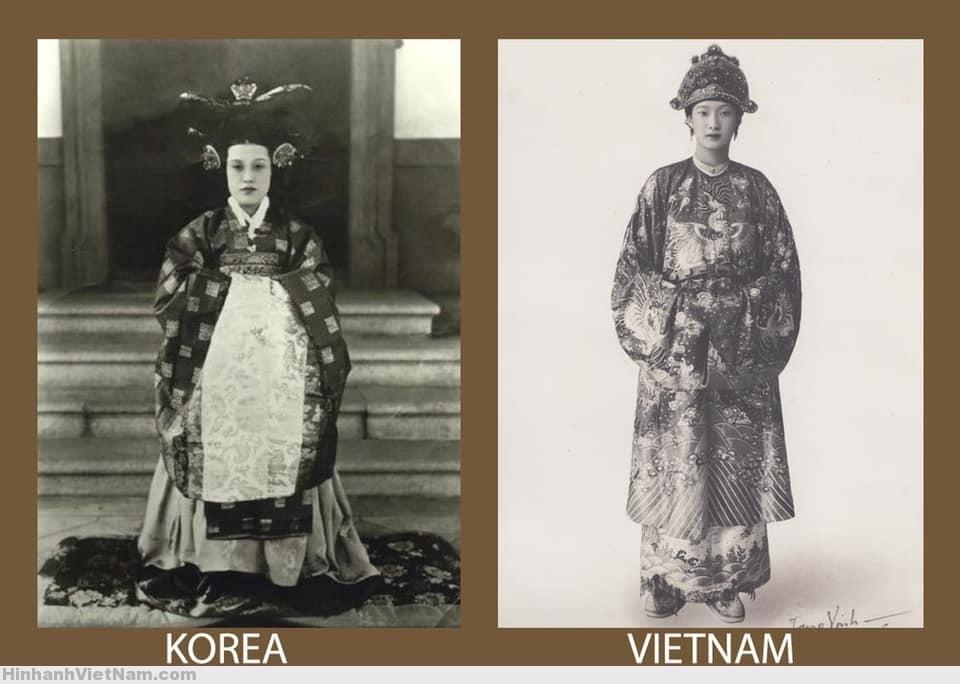 Đại triều phục của vương hậu Triều Tiên và hoàng hậu Việt Nam