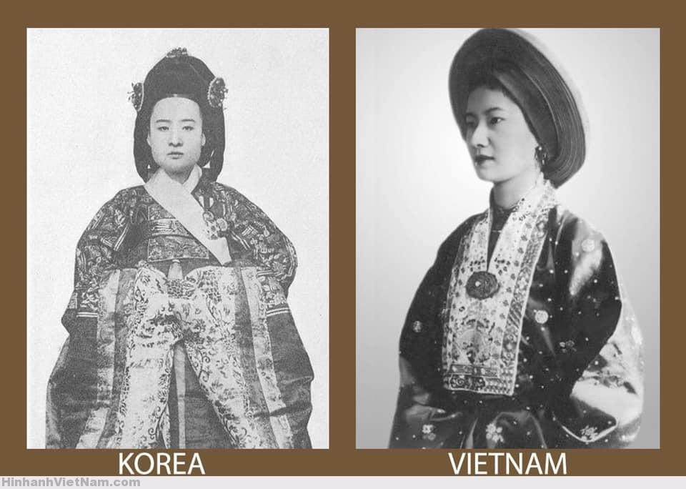 Lễ phục của vương hậu Triều Tiên và hoàng hậu Việt Nam