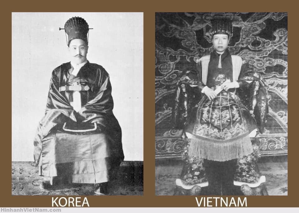 Tế phục của vua Triều Tiên và Việt Nam