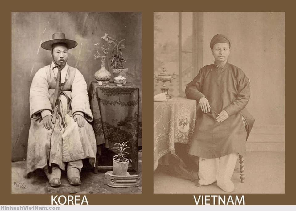 Thường phục của nam nhân Triều Tiên và Việt Nam