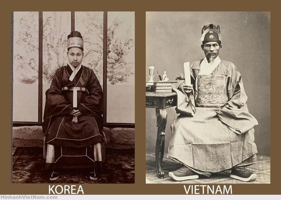 Thường triều phục/ tế phục của quan viên Triều Tiên và Việt Nam