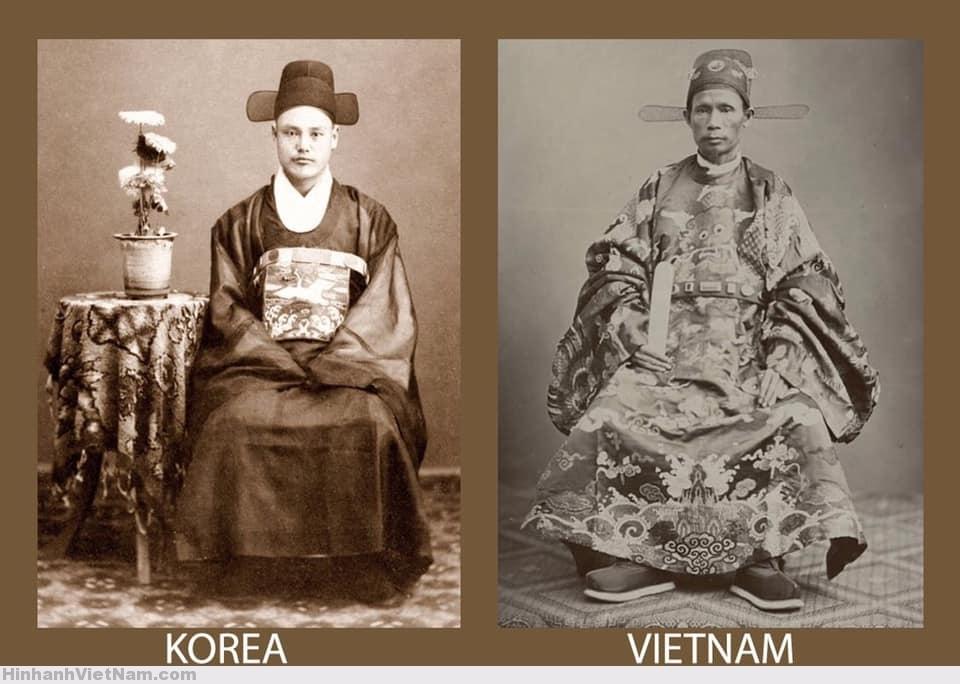 Trang phục đại triều của quan Triều Tiên và Việt Nam (thời Nguyễn)