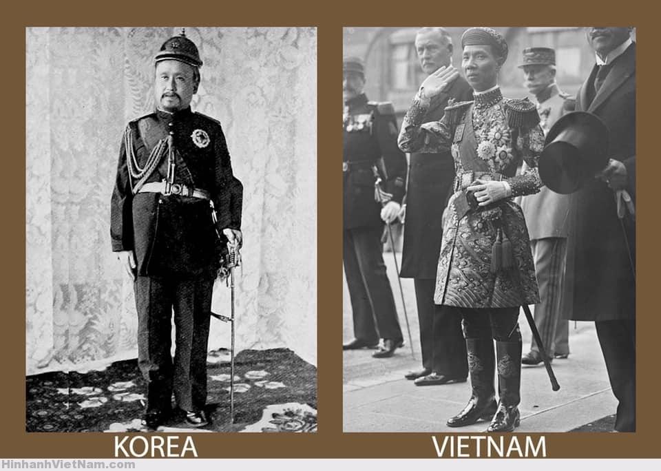 Võ phục cách tân của vua Triều Tiên và Việt Nam ( vua Khải Định)
