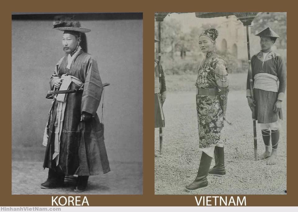 Võ phục cung đình của Triều Tiên và Việt Nam