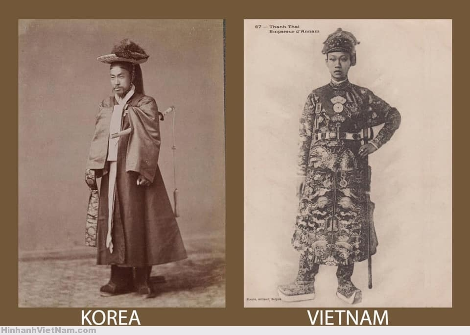 Võ phục truyền thống của vua Triều Tiên và Việt Nam (vua Thành Thái)