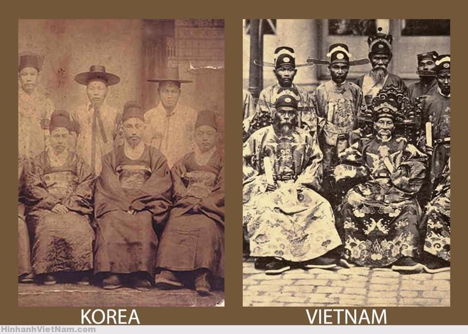 trang phục của các quan viên Triều Tiên và Việt Nam