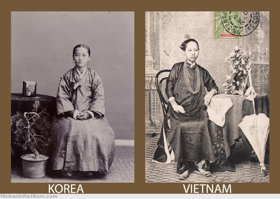 trang phục nữ nhân Triều Tiên và Việt Nam