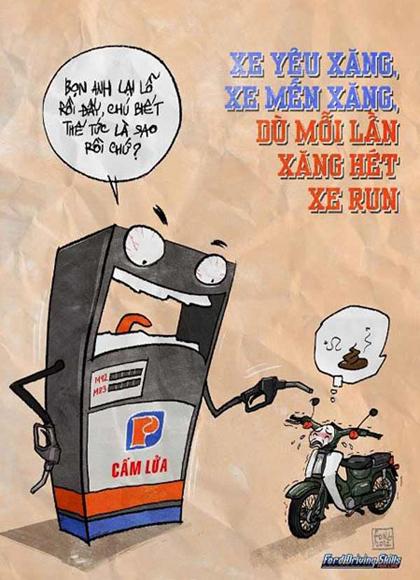 Giao thông Việt Nam qua tranh biếm họa - Hình 12