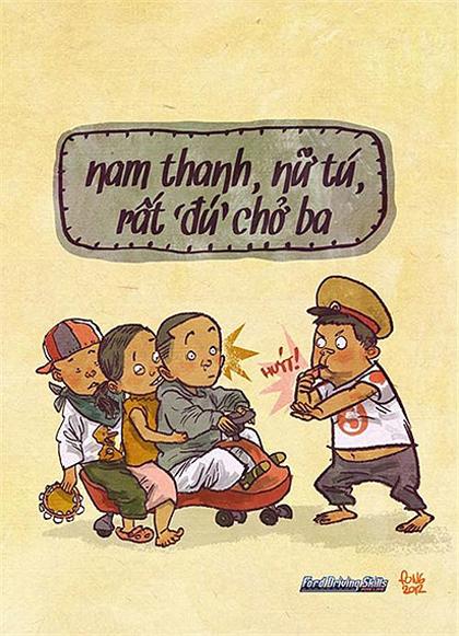 Giao thông Việt Nam qua tranh biếm họa - Hình 13
