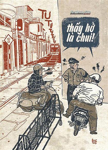 Giao thông Việt Nam qua tranh biếm họa - Hình 16
