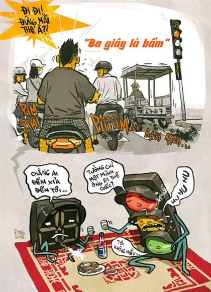 Giao thông Việt Nam qua tranh biếm họa - Hình 3
