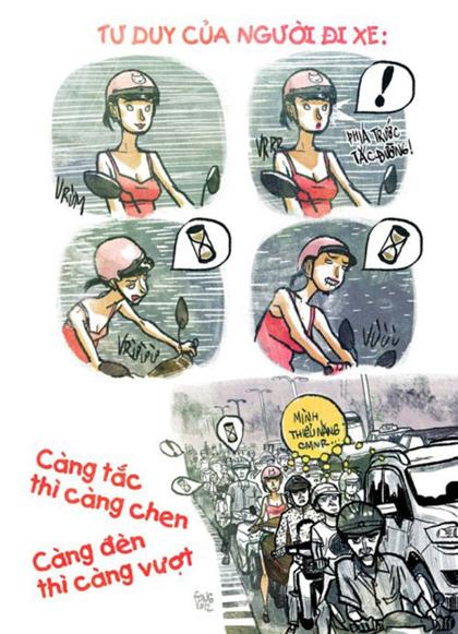 Giao thông Việt Nam qua tranh biếm họa - Hình 1
