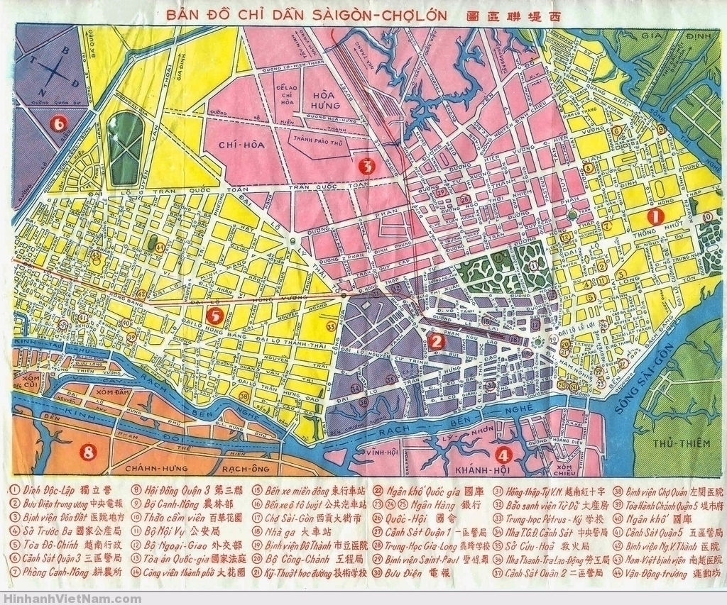 Saigon Map 1960