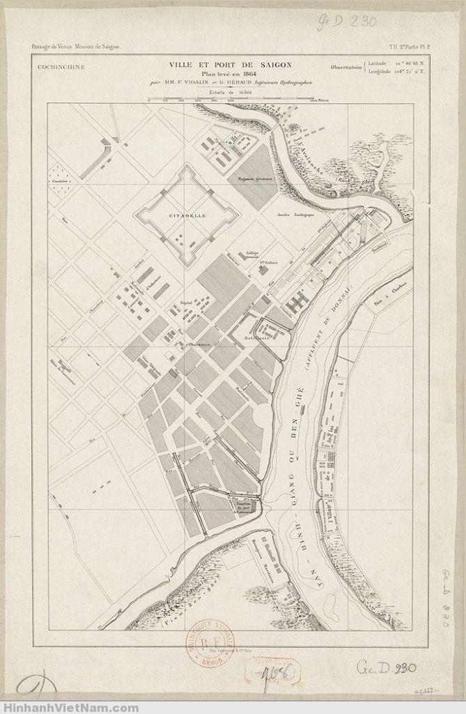 1864 Ville et Port de Saigon - Thành phố và Cảng SAIGON, 5 năm sau ngày quân Pháp đánh chiếm SG