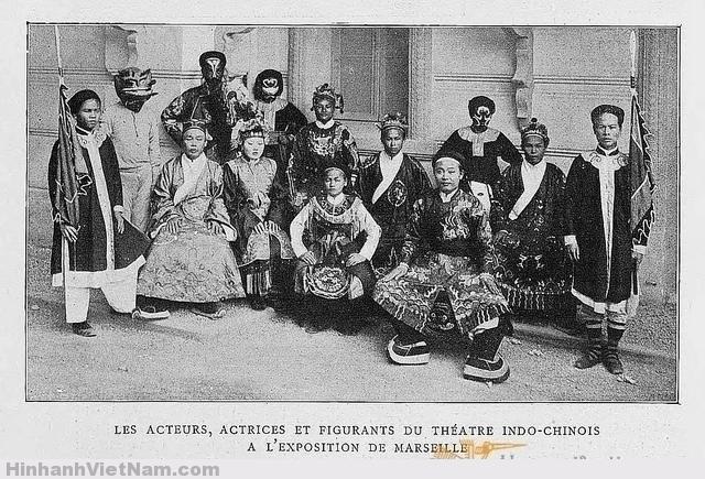 L'INDOCHINE 1906 - Les acteurs, actrices et figurants du théâtre indo-chinois à l'Exposition de Marseille