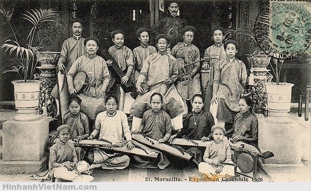 Ban nhạc tài tử của ông Nguyễn Tống Triều dự Hội chợ thuộc địa Marseille 1906 tại Pháp