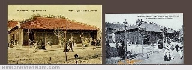 Ngôi nhà có kiến trúc theo kiểu ngôi đình truyền thống này do tỉnh Thủ Dầu Một thực hiện cho xứ Nam Kỳ tham dự Hội chợ Thuộc địa Marseille 1906, và kế tiếp là Hội chợ Thuộc địa Nogent-sur-Marne năm 1907. Ngôi nhà sau đó được chính phủ Pháp mua lại và năm 1917 đã giao cho tổ chức Kỷ niệm Đông Dương dùng làm Đền Kỷ niệm các binh sĩ Đông Dương hy sinh cho nước Pháp trong Đệ nhất Thế chiến. Ngày 9-6-1920 Đền Kỷ niệm Đông Dương đã được khánh thành. Do chất lượng nghệ thuật của tòa nhà, năm 1965 công trình đã được đưa vào danh mục các công trình lịch sử, nhưng vì công việc bảo trì không được làm đầy đủ, sau một thời gian dài tòa nhà đã bị hư hỏng đáng kể. Một chương trình trùng tu đã được lên kế hoạch vào năm 1983, tuy nhiên khi công việc vừa mới khởi sự thì tòa nhà đã bị thiêu hủy hoàn toàn vì một vụ cố ý gây hỏa hoạn..