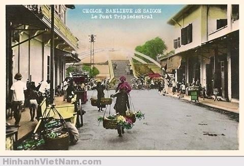 Cầu Ba Cẳng Sài Gòn xưa Ảnh chụp năm 1950