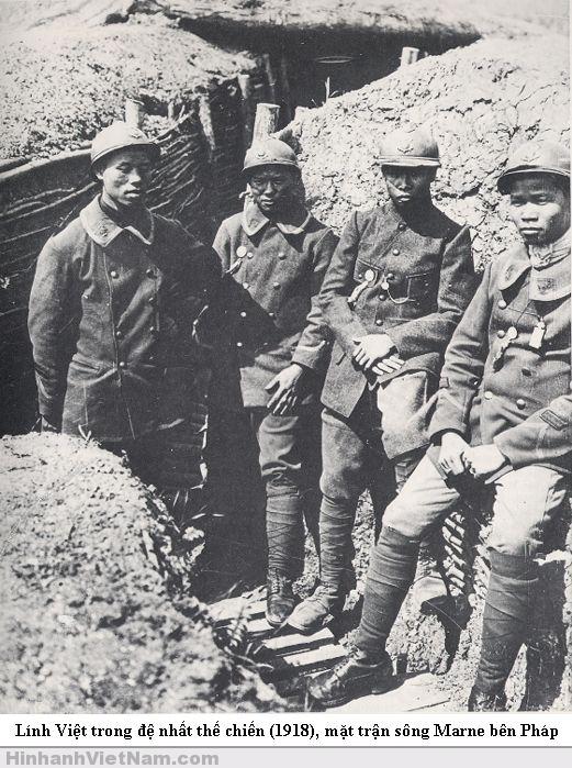 Lính Việt trong mặt trận sông Marne, 1918 Pháp