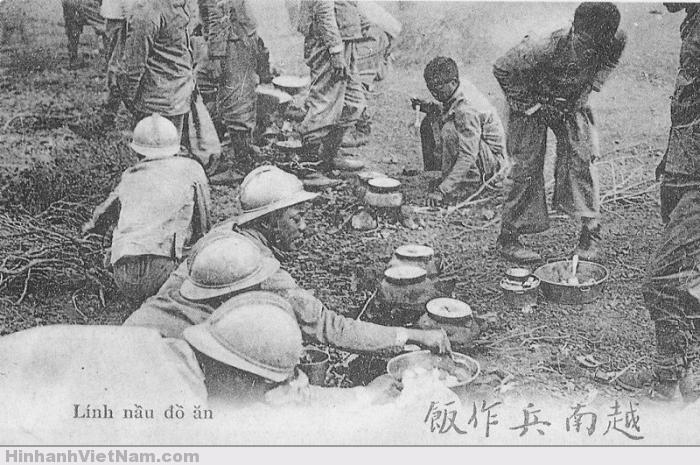 Lính Việt nấu cơm (bên Pháp)