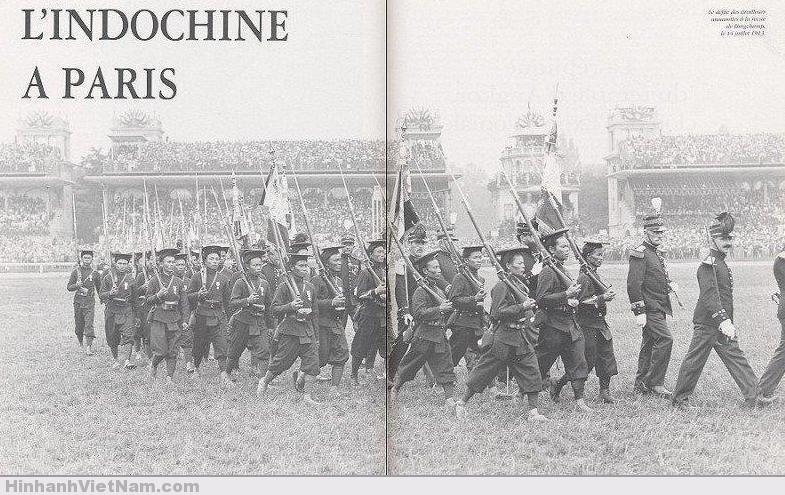 Quân đội Việt Nam đi diễn hành (bên Pháp) trong ngày quốc khánh Pháp (1913)