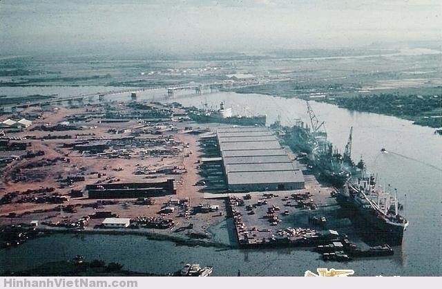 Tân Cảng SG - Aerial of ships docked in Saigon Newport