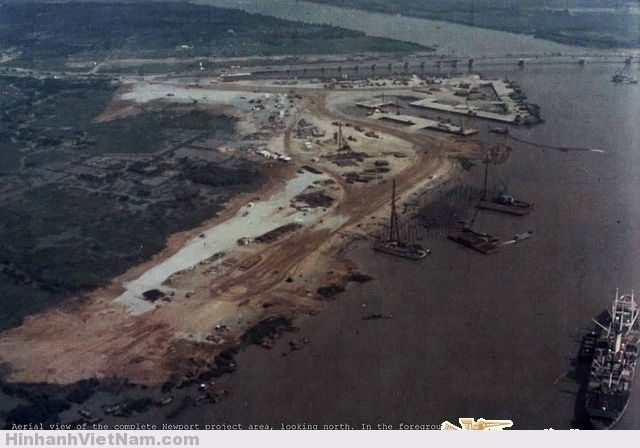Không ảnh toàn bộ khu vực dự án xây dựng Tân Cảng của QĐ Mỹ