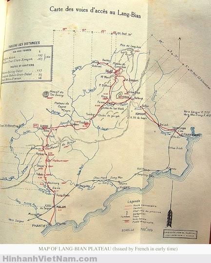 Bản đồ đỉnh LangBian