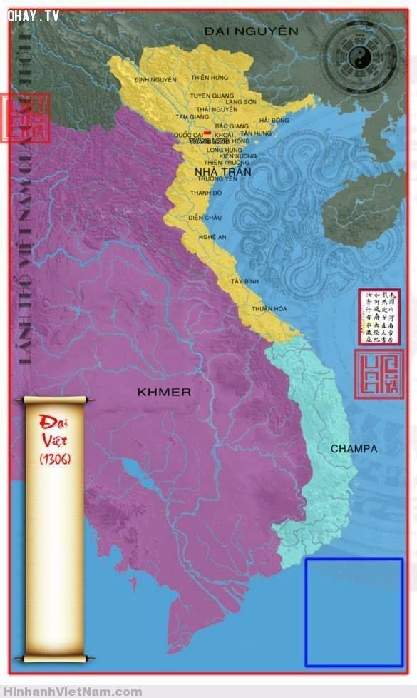 Bản đồ nước Việt nhà Trần
