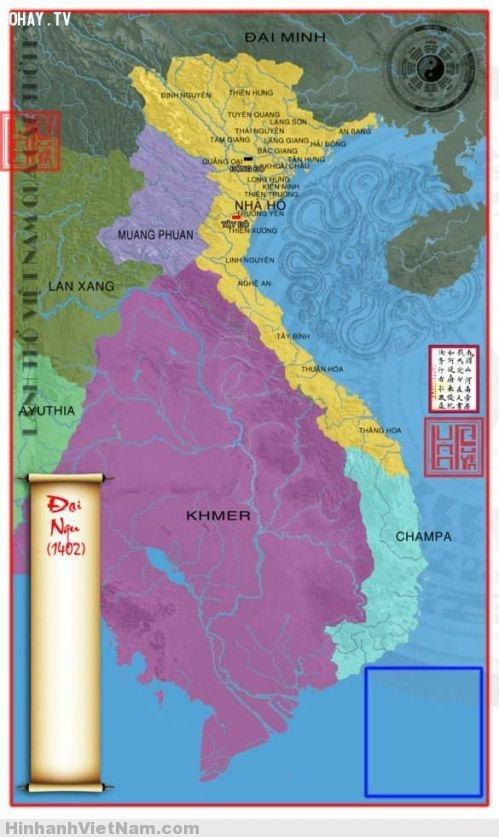 Bản đồ nước Việt nhà Hồ 1402