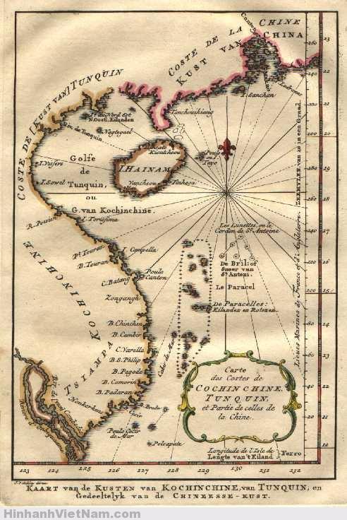 Bản đồ Việt Nam – với Trường Sa – vào năm 1754