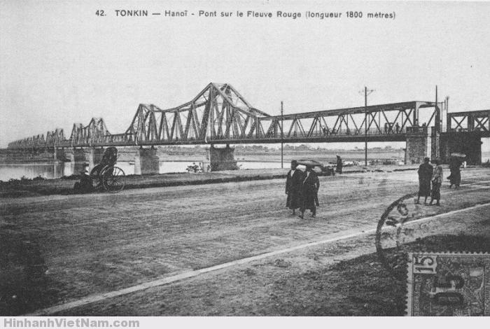Cầu Long Biên thời Pháp