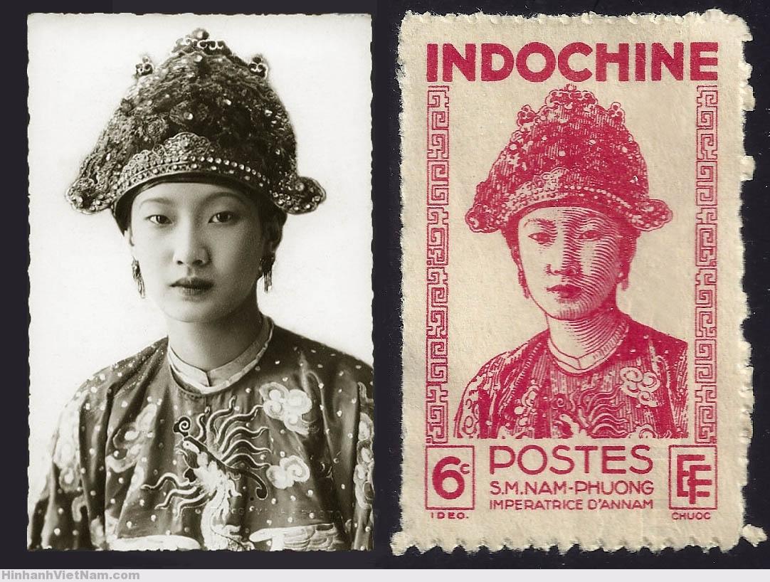 Sa Majesté Nam Phuong impératrice d´Annam (Photographe_ Tang Vinh à Hué)