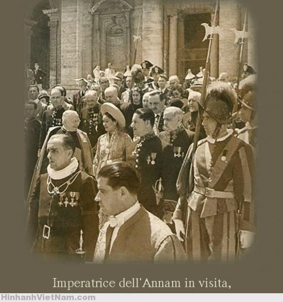 Nam Phương Hoàng Hậu viếng thăm La Mã 21-7