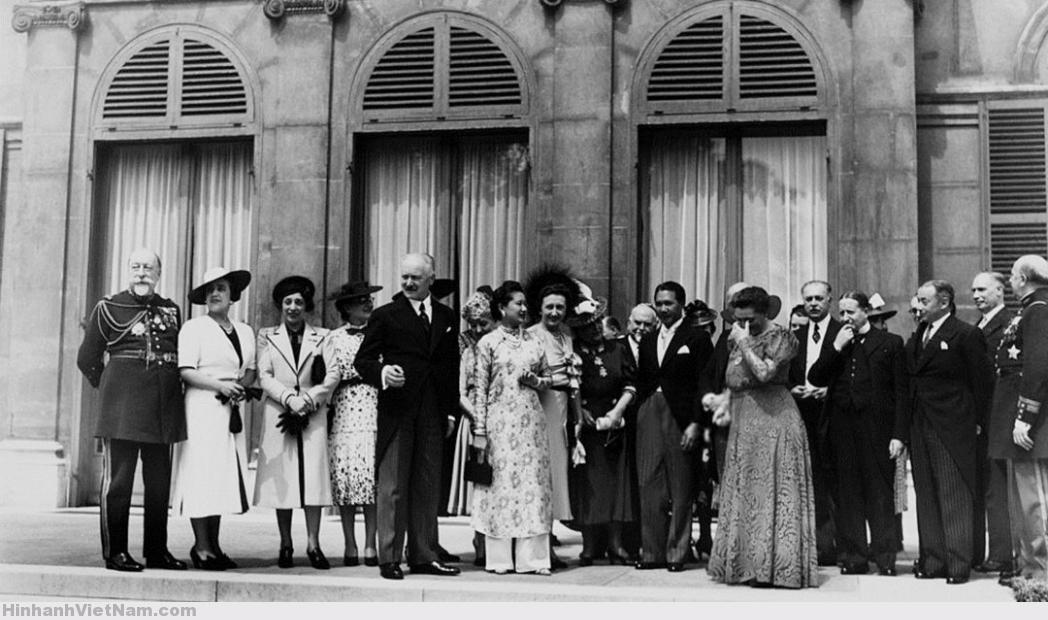 Hoàng gia Annam viếng thăm Điện Elysee trong thập niên 1930