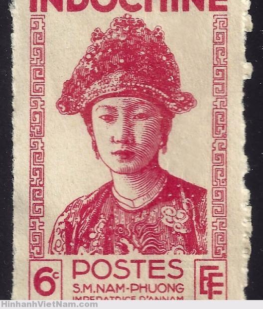 INDOCHINE – CIRCA 1943 – S.M. NAM-PHUONG, Impératrice d'Annam – Tem Nam Phương Hoàng Hậu do họa sĩ Bùi Trang Chước vẽ