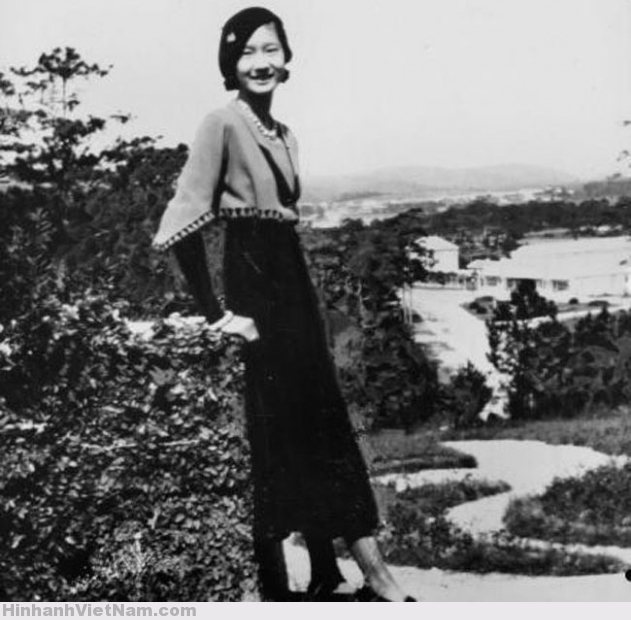 Nam Phuong, the Bao Dai's spouse, in her father's