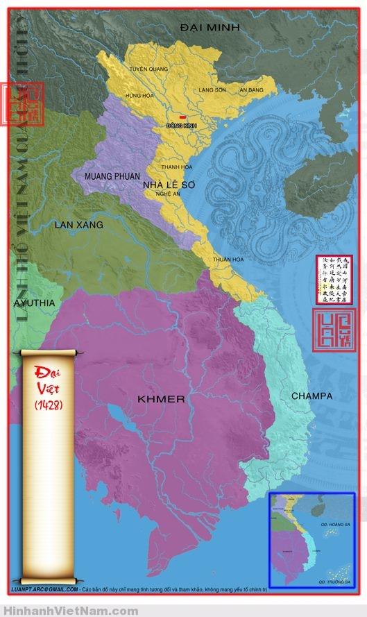 Bản đồ Việt Nam theo từng thời kỳ lịch sử
