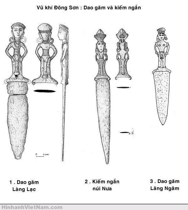 Vũ khí Đông Sơn: dao găm- đoản kiếm